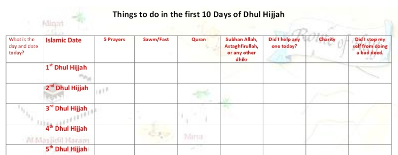 Happy Land-Hajj Chart for ages 9 and up