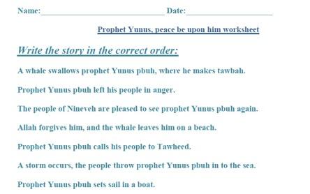 Prophet Yunus (pbuh), Wksht