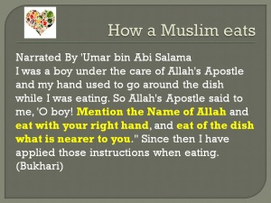 1 Etiquettes of Eating According to Qur'an and Sunnah