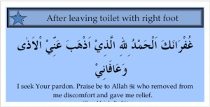 Du'a when coming out of the toilet