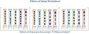 Ramadaan2013-Pillars of Islam Worksheet 3 for ages 5-6