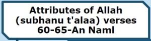 Surah An Naml-verse 60-65 handout