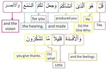 Surah Al Mulk-verse 23, w4w pracitce