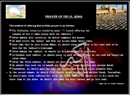 Eid ul Adha-A Poster