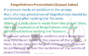 Slide12 -Forgetfulness Prostrations (Sujuud Sahw)-Salat un Nabi Workshop 2013-Day 3