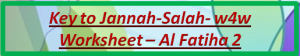 Key to Jannah-Salah w4w for ages 9-10-Al Fatiha 2