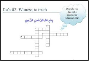 02-Witness to truth Du'a-Ramadan1435-Du'a Memorization Workbook
