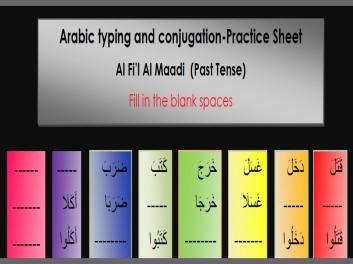 Practice Sheet, Al Fi'l Al Maadi Conjugations