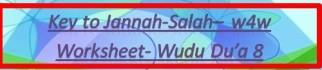 Key to Jannah-Salah w4w for ages 9-10-Wudu Du'a 8