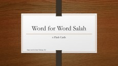 Word for Word Salah-Flash Cards