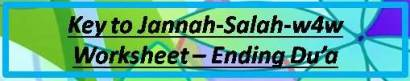 Key to Jannah-Salah w4w for ages 9-10- Ending Du'a 14