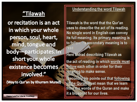 Words in Qur'an- TILAWAH - ayah 121- Al Baqarah