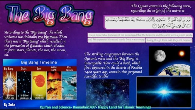 Qur An And Science Big Bang Theory Student S Work 3 Happy Land